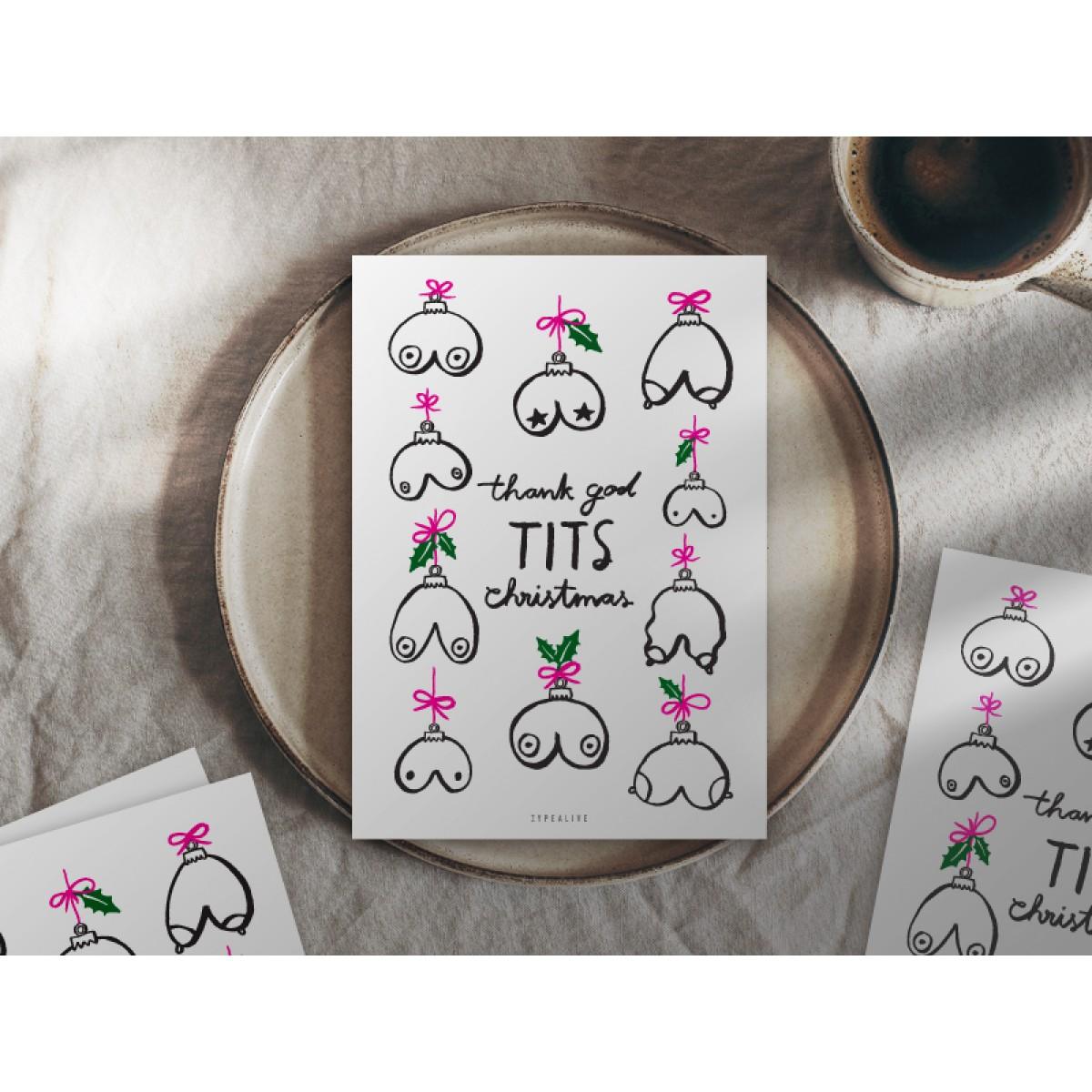 typealive / Weihnachtskarten 4er Set / Tits Christmas