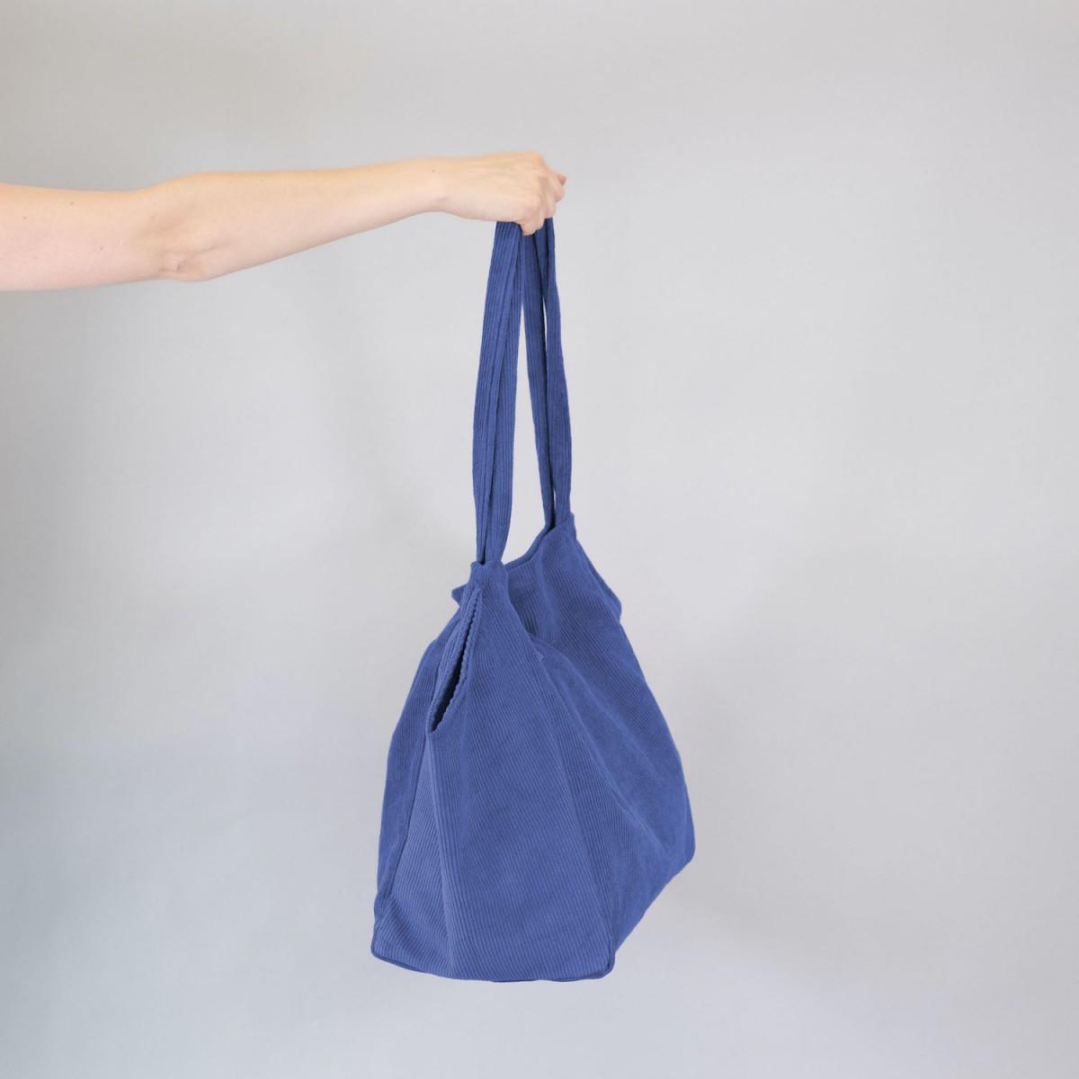 Totebag •Cord• kobaltblau