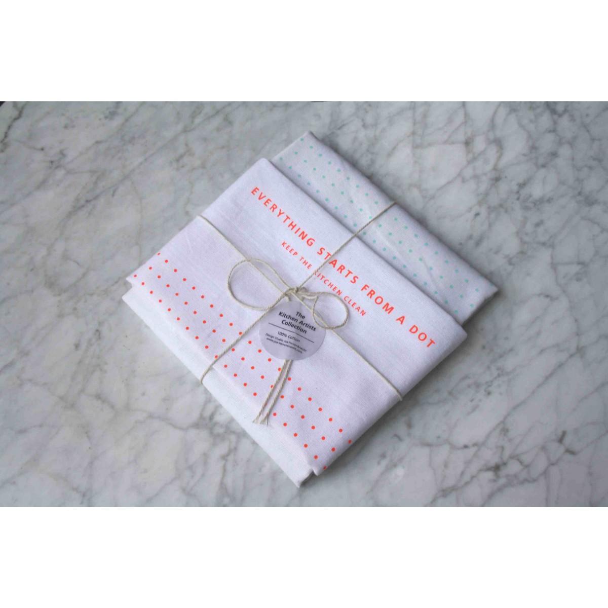 Studio Joa Herrenknecht Tea Towel Set - Everything starts from a dot.