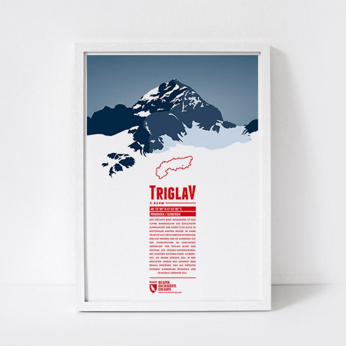 Marmota Maps – Triglav - Bergdruck