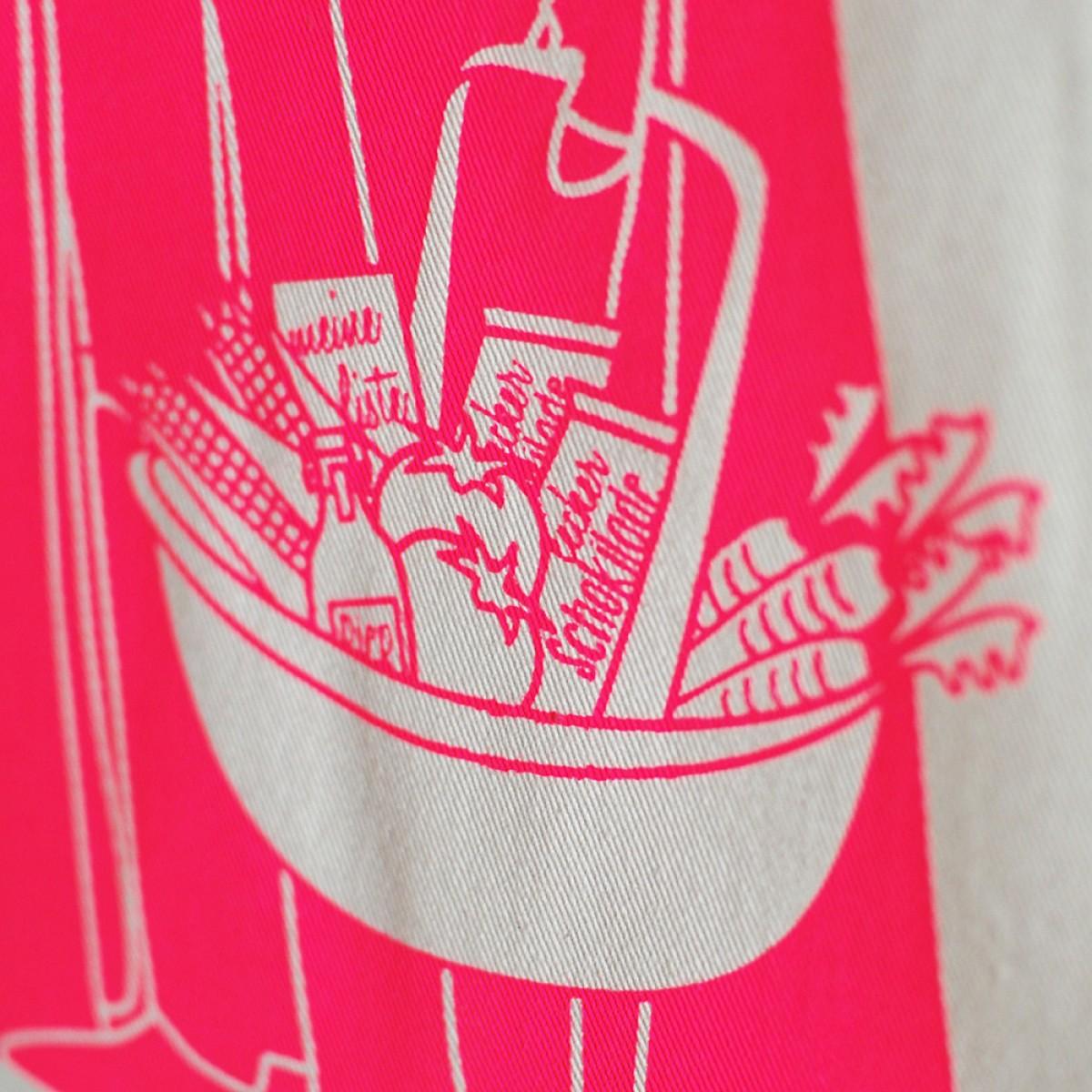 "Frau Schnobel Grafik Turnbeutel ""Darth"" Natur / NEON pink"