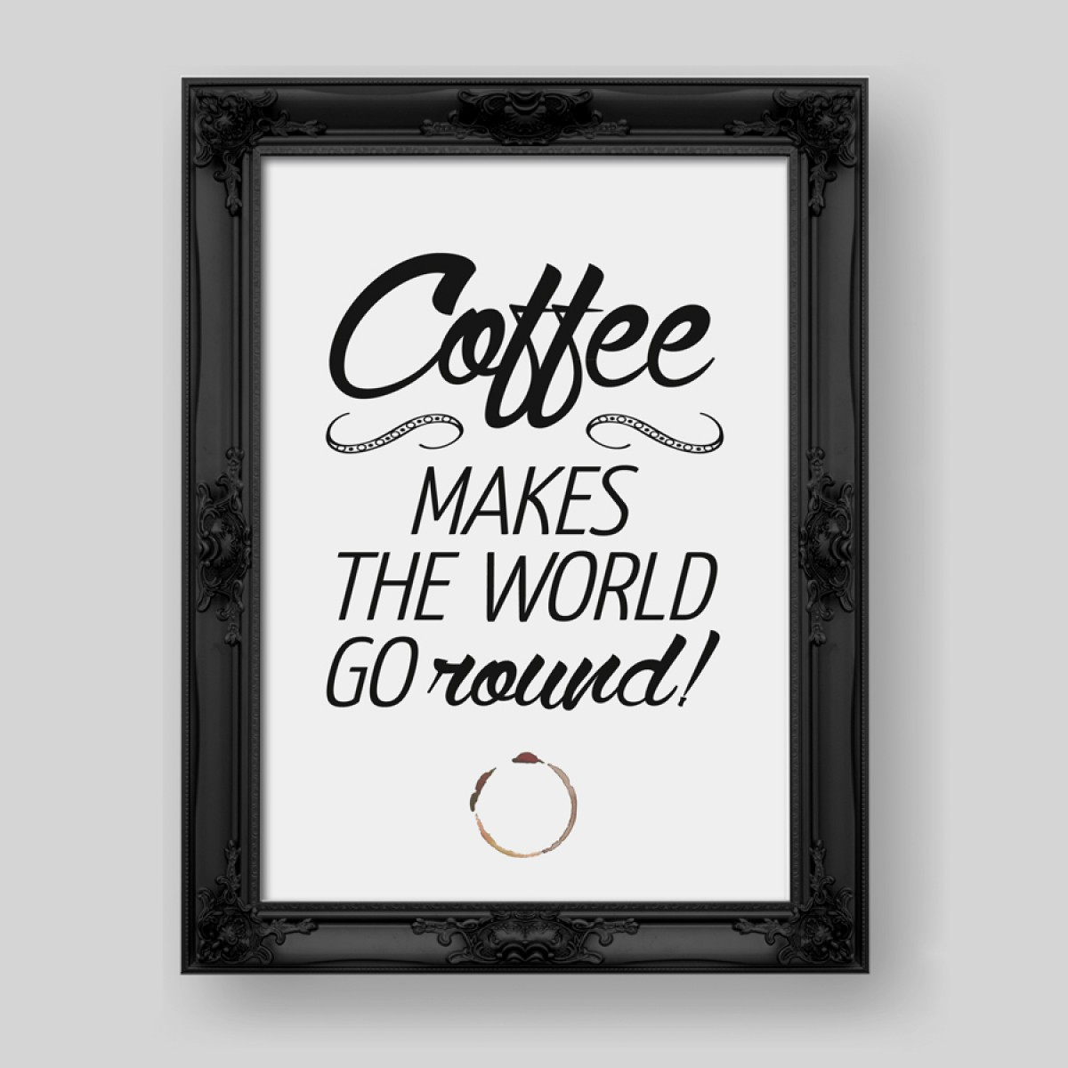 "Amy & Kurt Berlin A4 Typo Print ""Coffee"""
