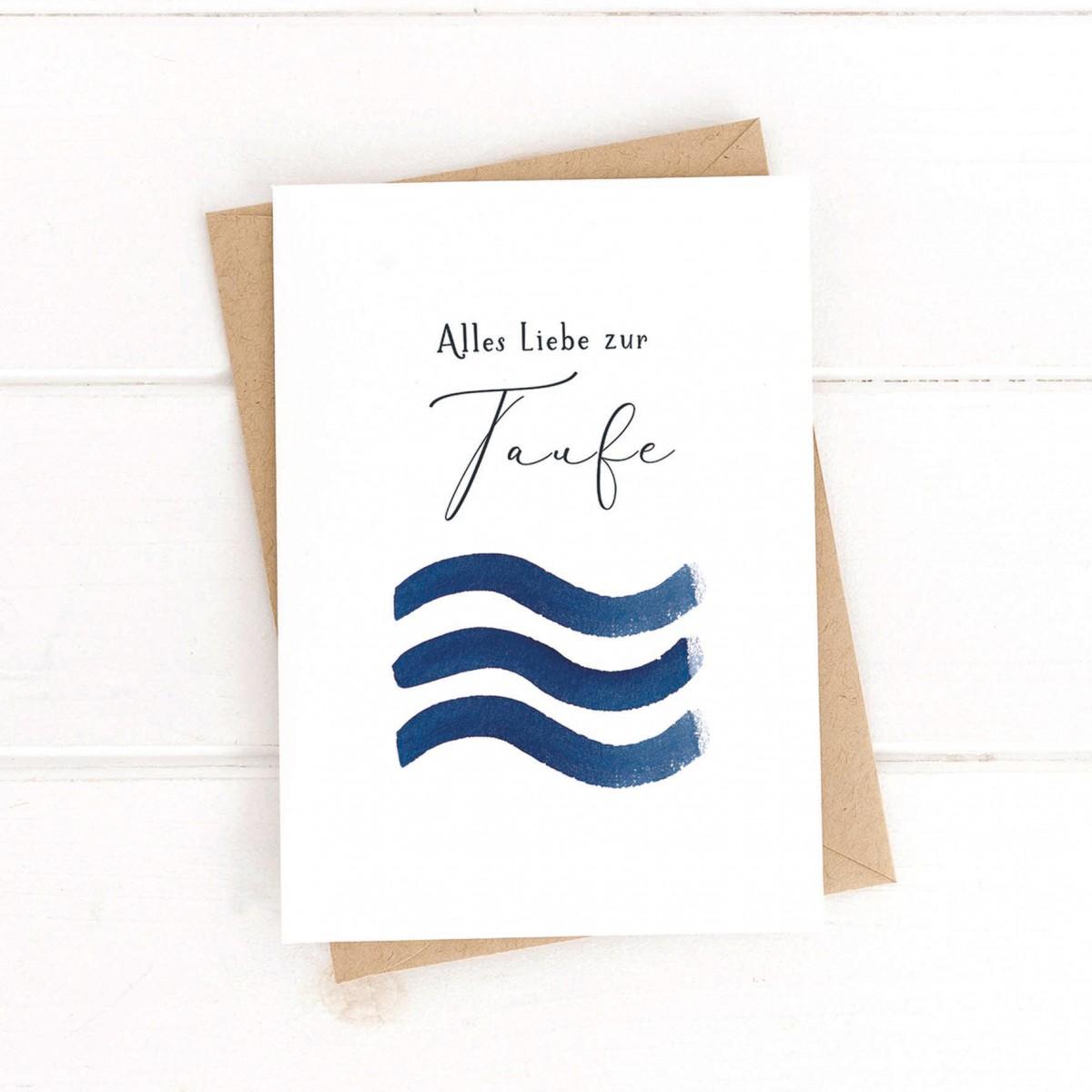 Paperlandscape | Faltkarte | Taufkarte | Wellen | Taufe