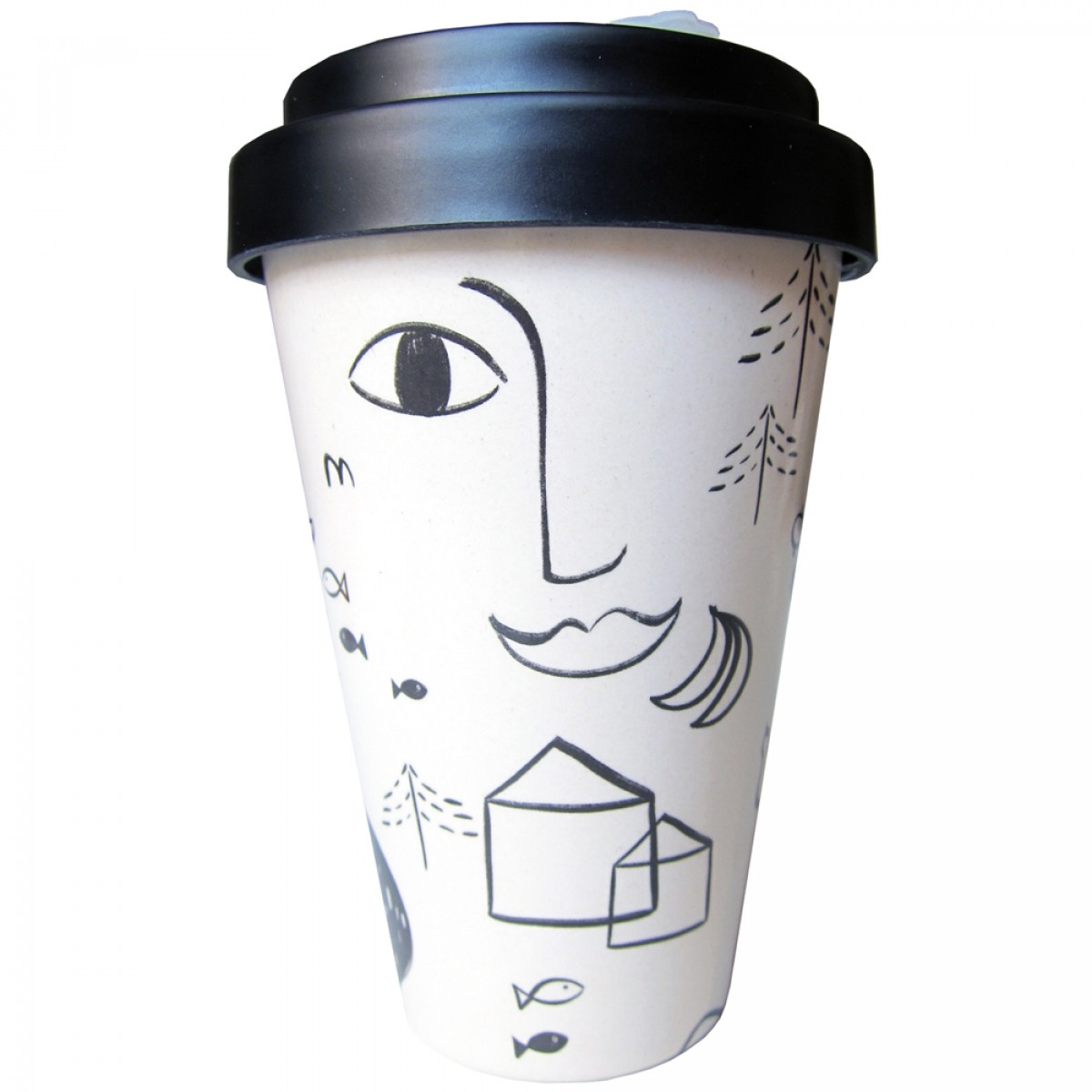 nuukk Bambus Kaffee-Becher Urban Jungle
