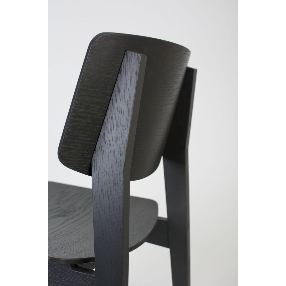 bartmann berlin holzstuhl usus schwarz grau und eiche. Black Bedroom Furniture Sets. Home Design Ideas
