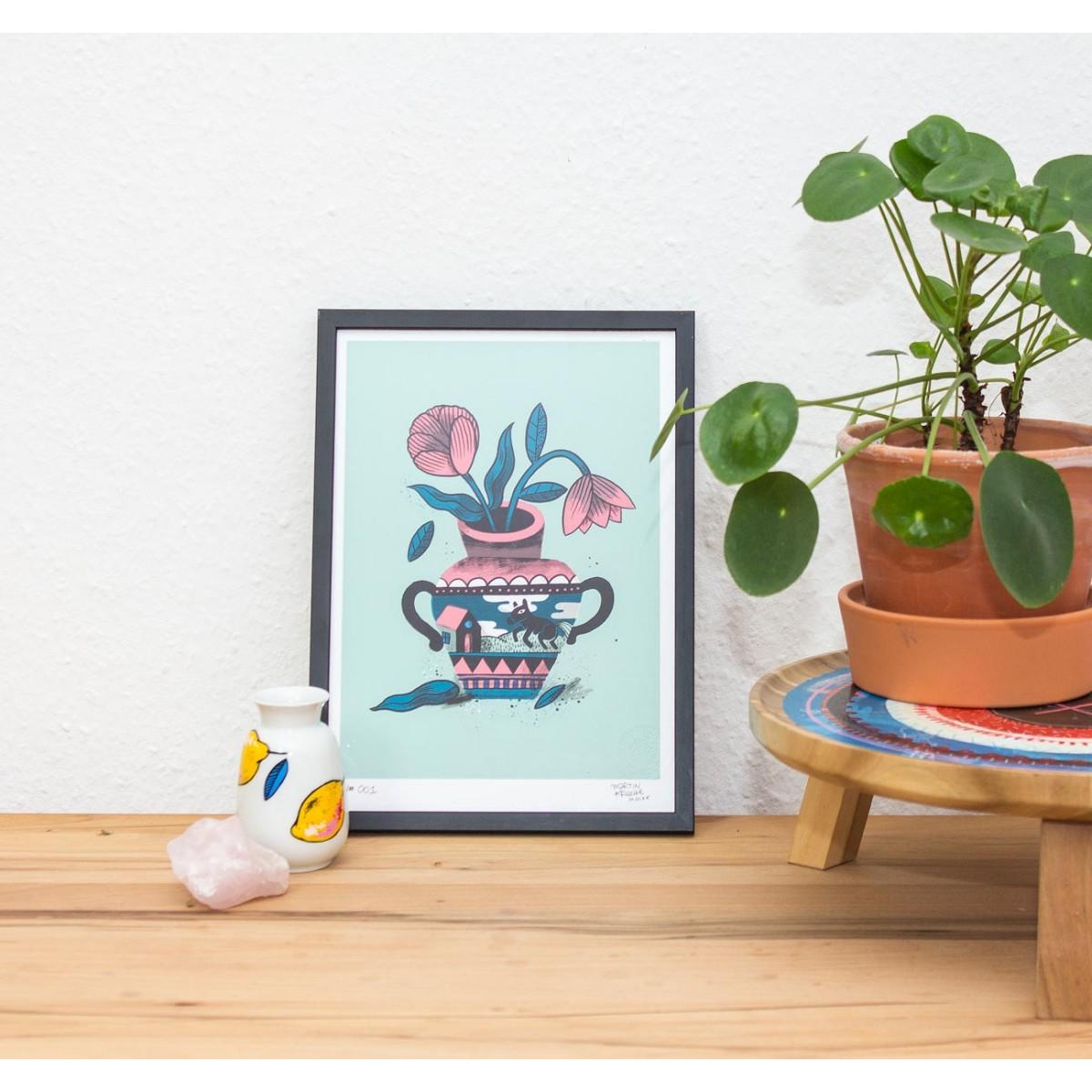 Martin Krusche - Fineartprint »Vase« DIN A4