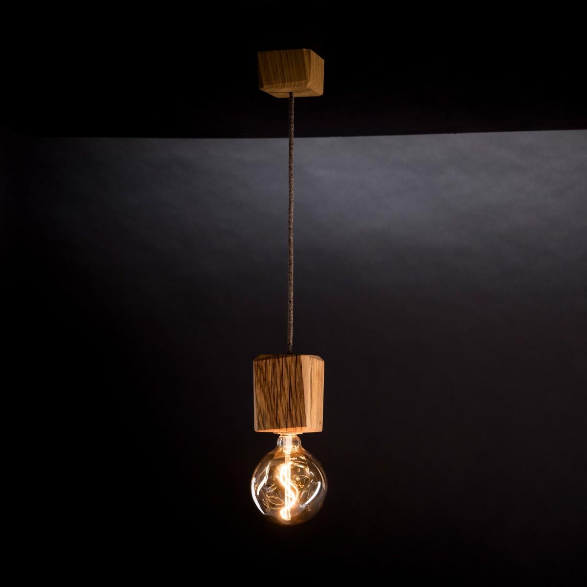 KUBUS | Hängeleuchte aus Holz von Verschnitt ohne Leuchtmittel