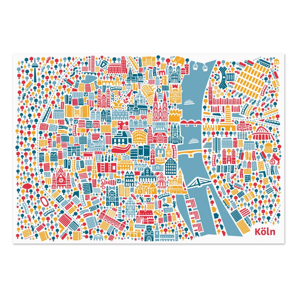 Vianina Köln Poster 100 x 70