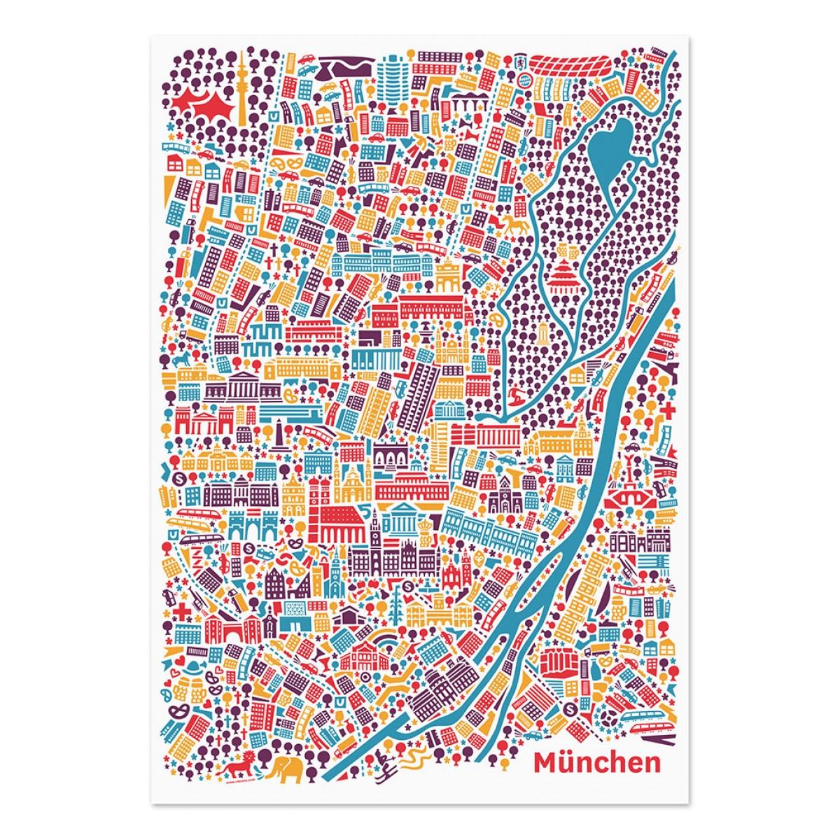 Vianina Poster München 50 x 70