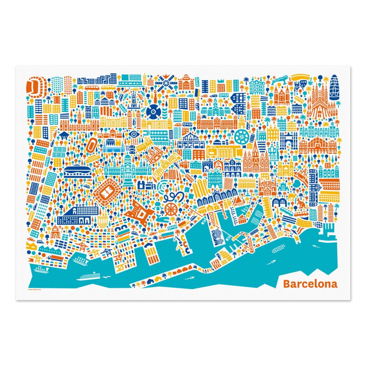 Vianina Barcelona Poster 70 x 50