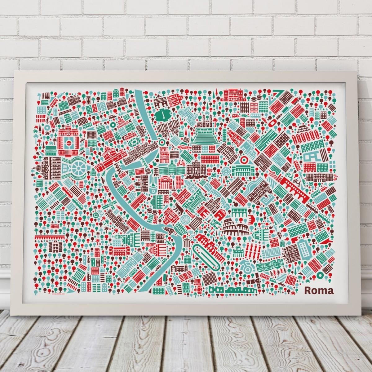 Vianina Rom Poster 100x70