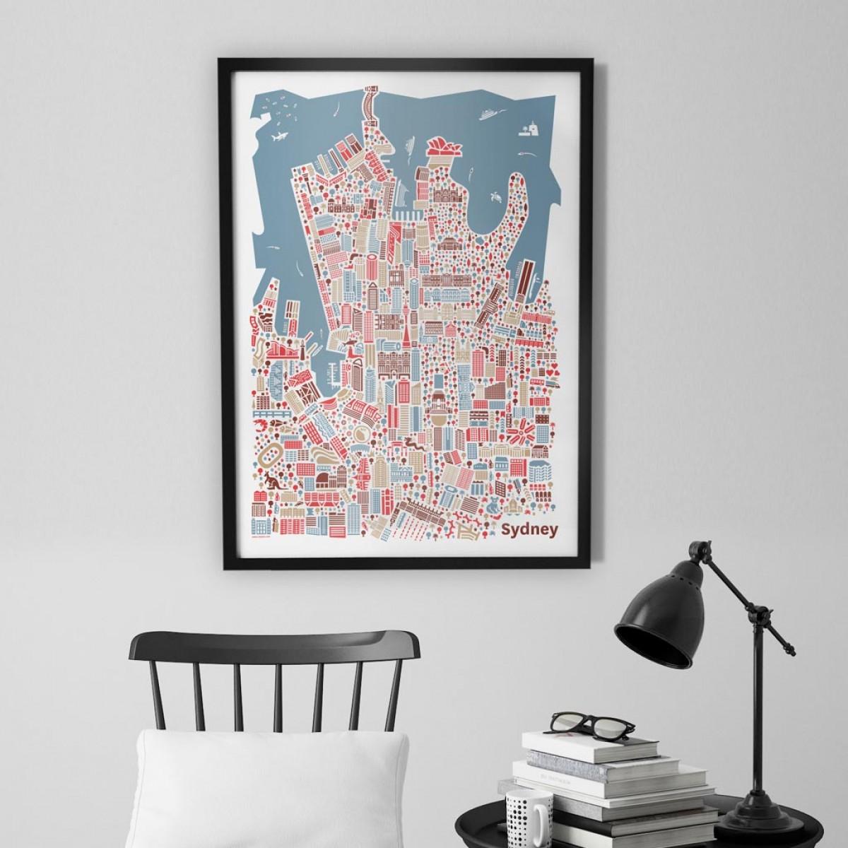 Vianina Sydney Poster 50x70