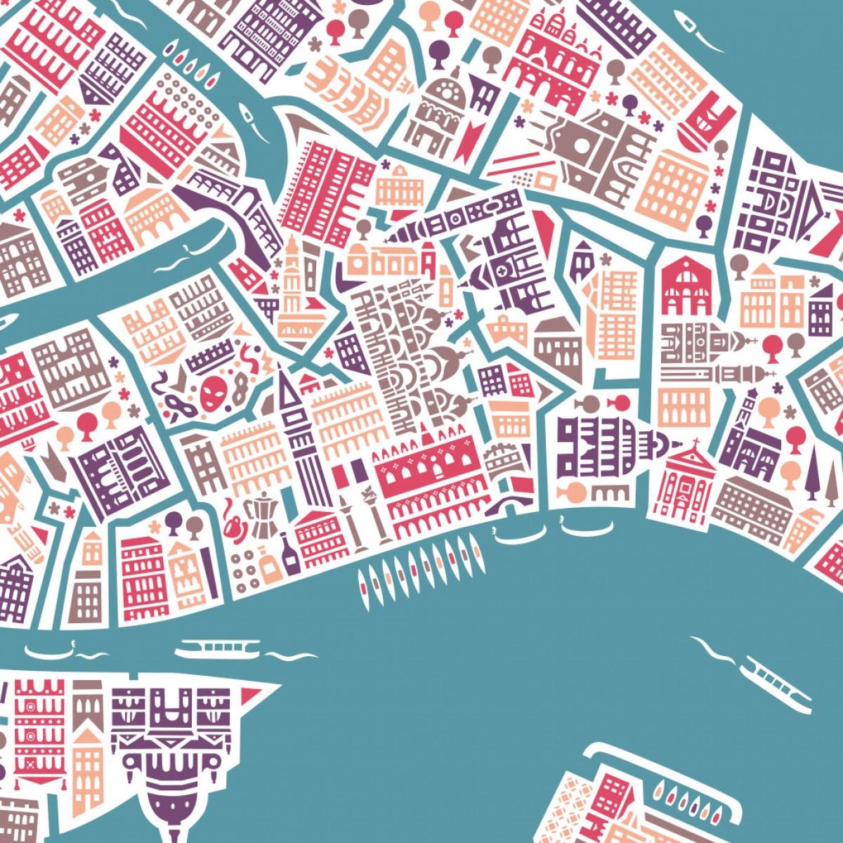 Vianina Venedig Poster 70x50