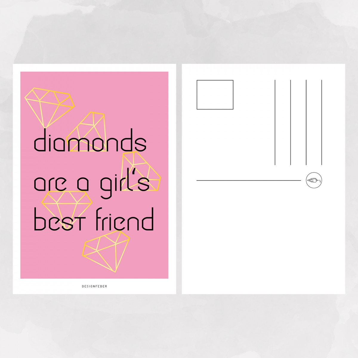 designfeder | Postkarte Diamonds