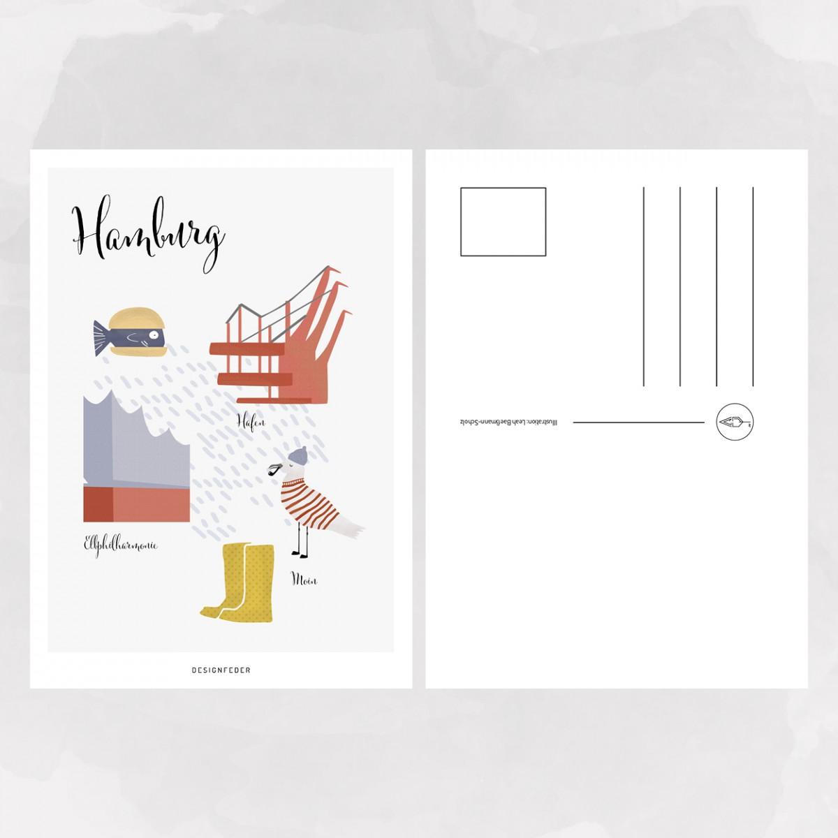 designfeder | Postkarte Hamburg