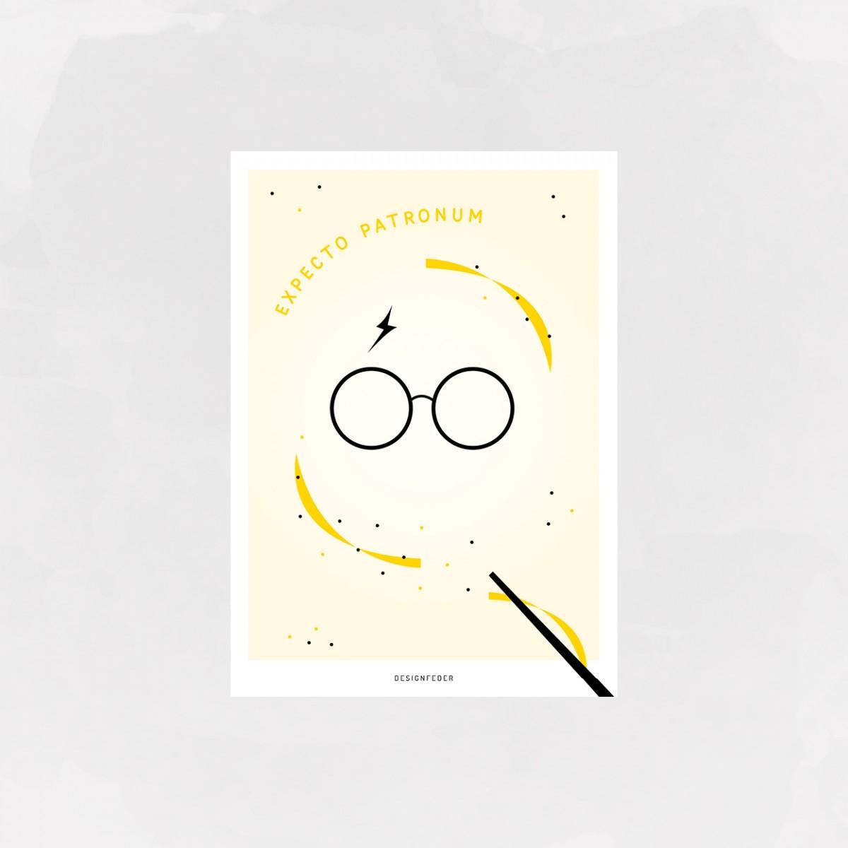 designfeder | postkarte Expecto Patronum (Harry Potter)