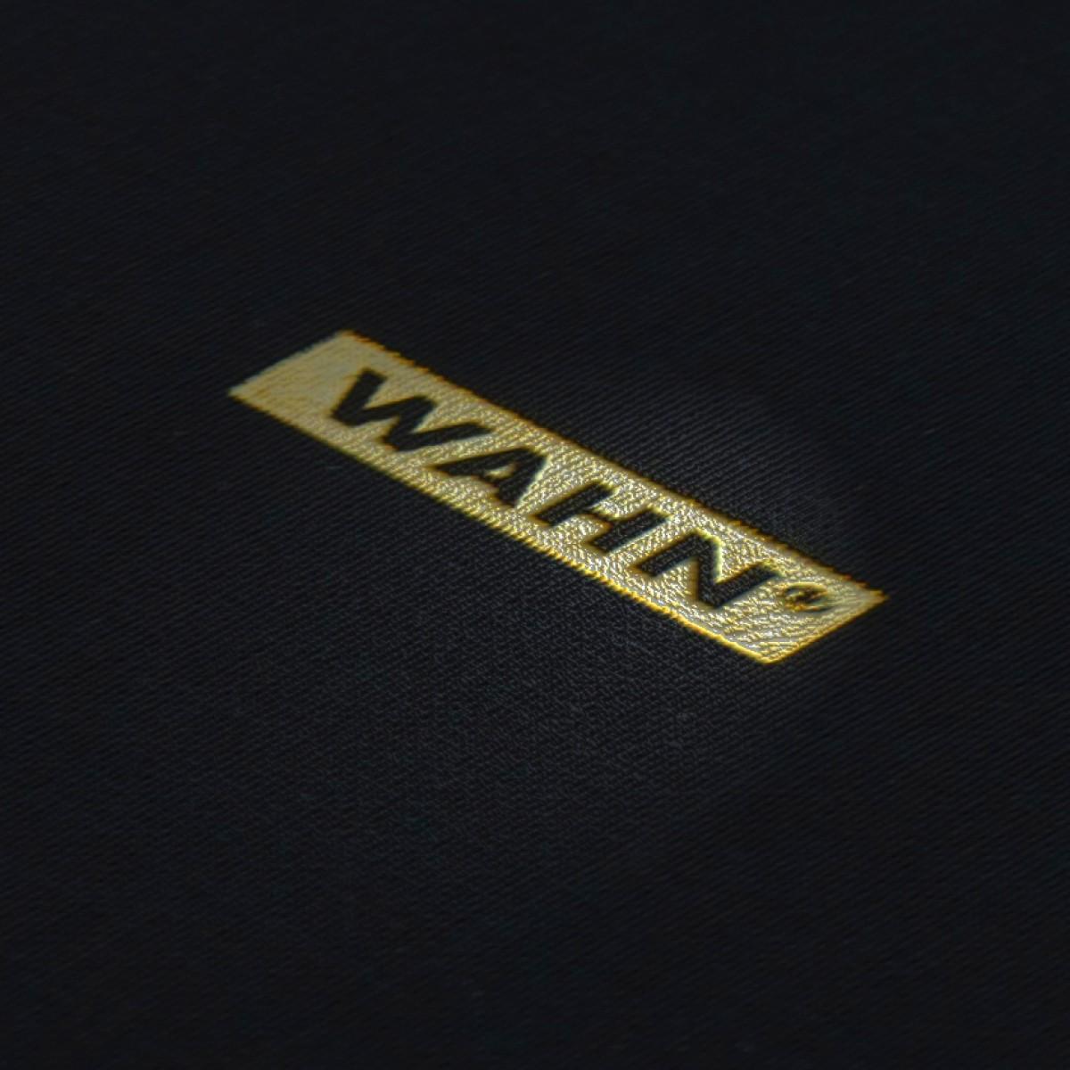 WAHN Notizbuch (125 x185 mm, schwarzes Leinen mit Goldschnitt)