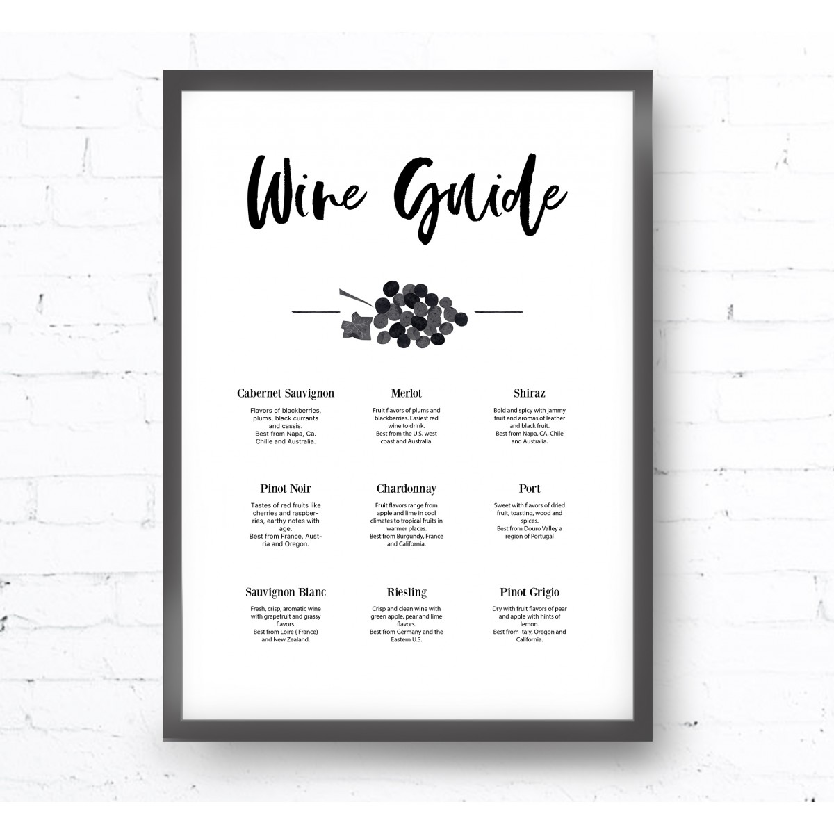 Kruth Design POSTER / WINE GUIDE