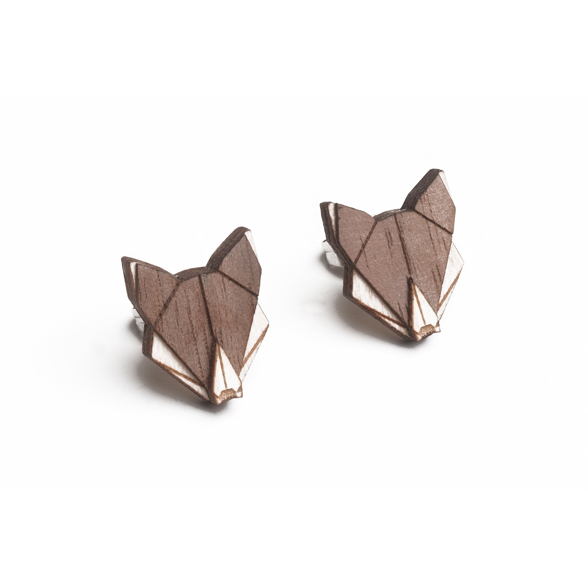 BeWooden Ohrringe - Ohrstecker aus Holz - Wolf Earrings