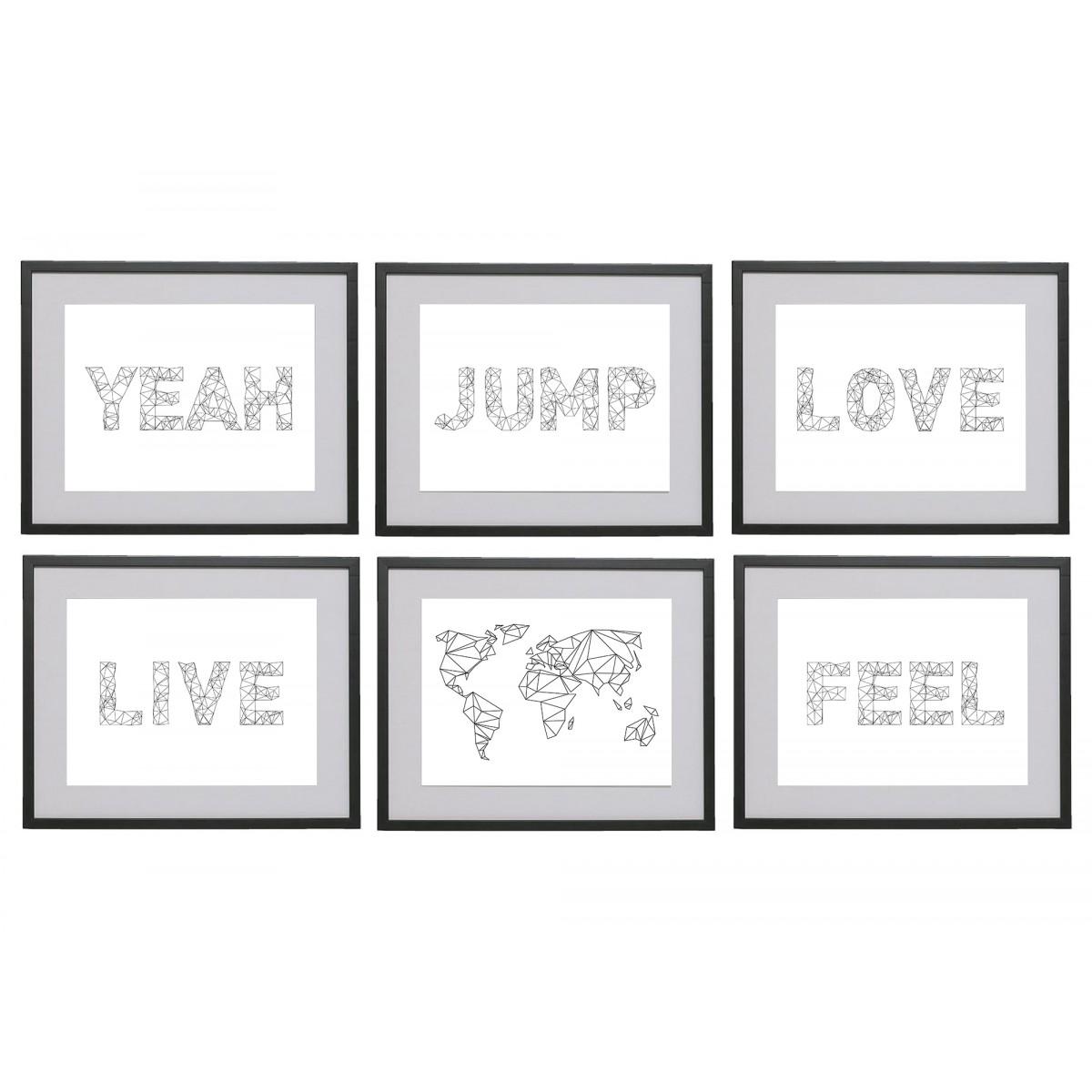na.hili A3 Print Words... Jump Feel Love Yeah (verschiedene Drucke)