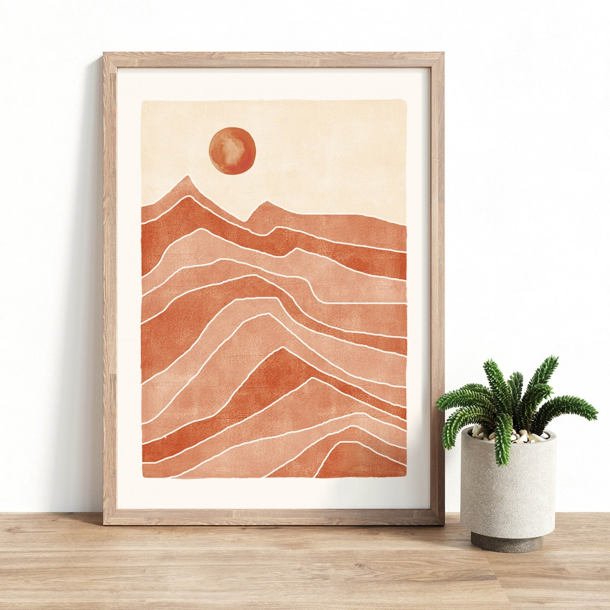 Paperlandscape   Kunstdruck   Wüste Terracotta   verschiedene Größen