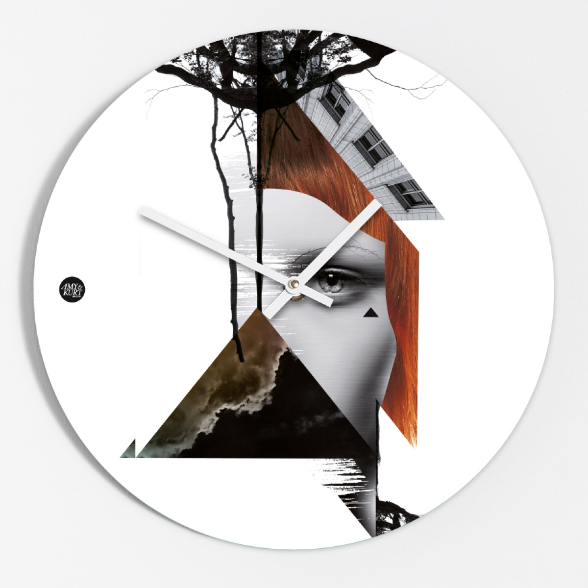 "Amy & Kurt Berlin Wanduhr ""Collage"""