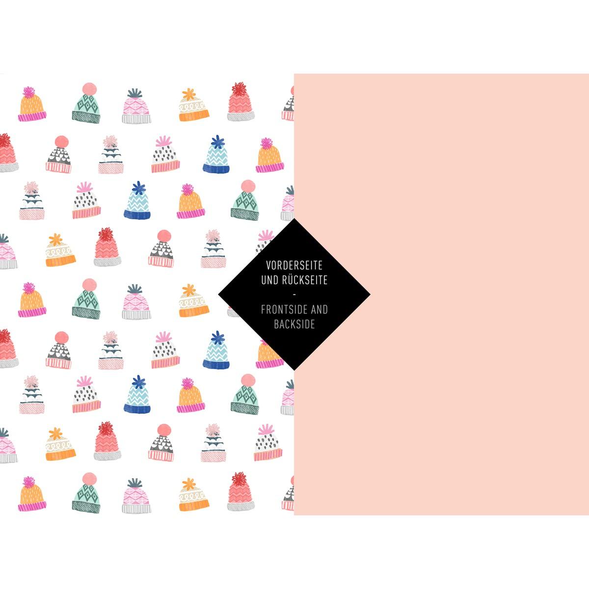 5x Geschenkpapier / Warm Wishes (gefaltet)