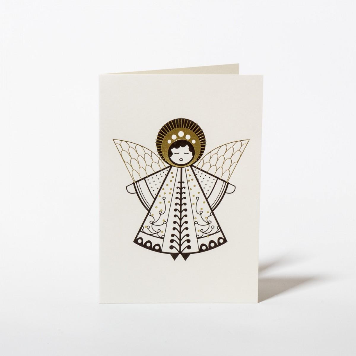 Wednesday Paper Works - Engel Grußkarte / Weihnachtskarte