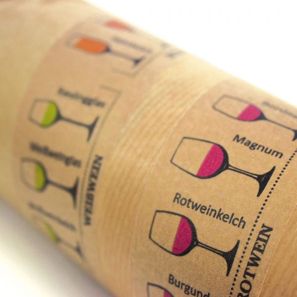 Papierklebeband Weingläser