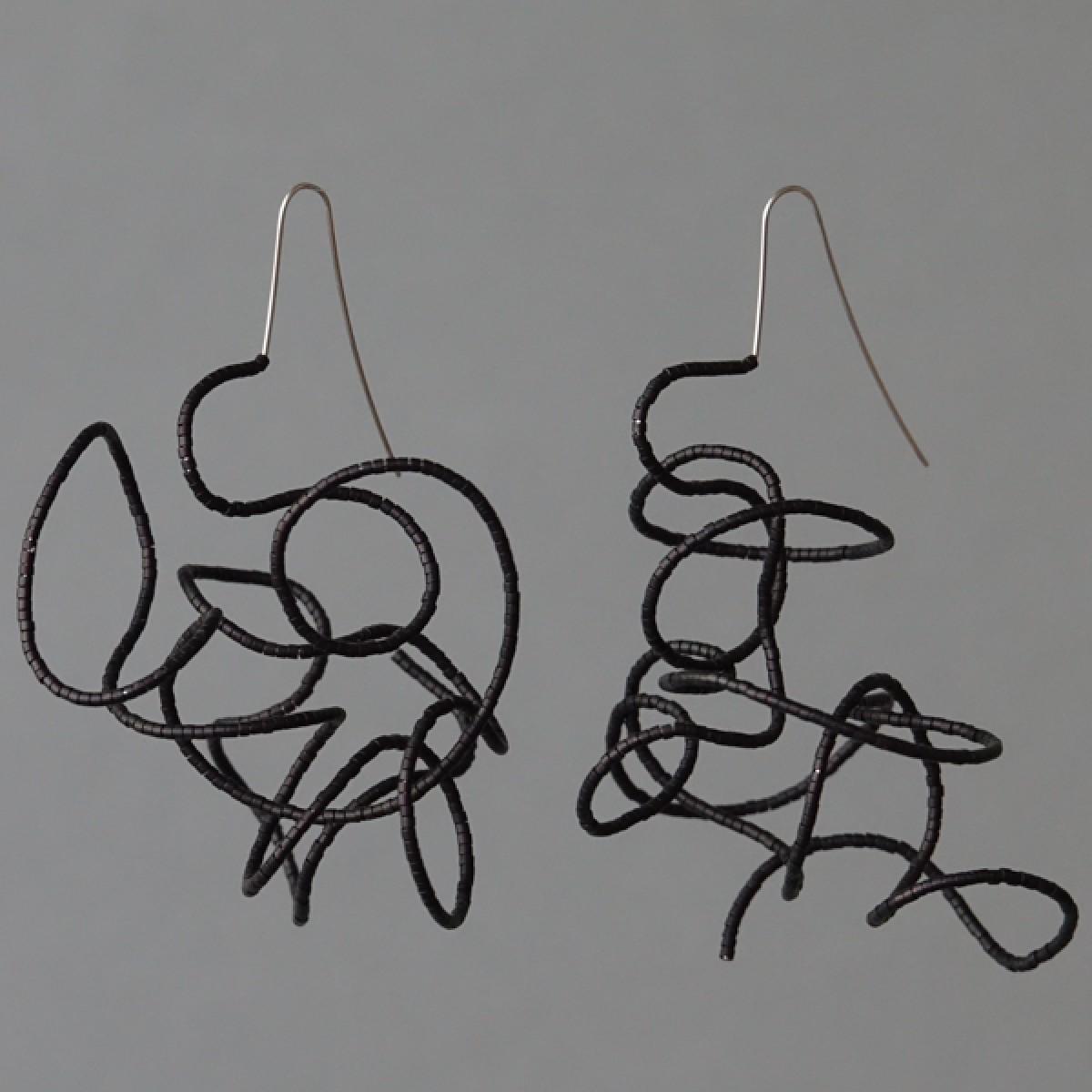 Gewirr - margaritifera - Ohrhänger - Stahl und Glas
