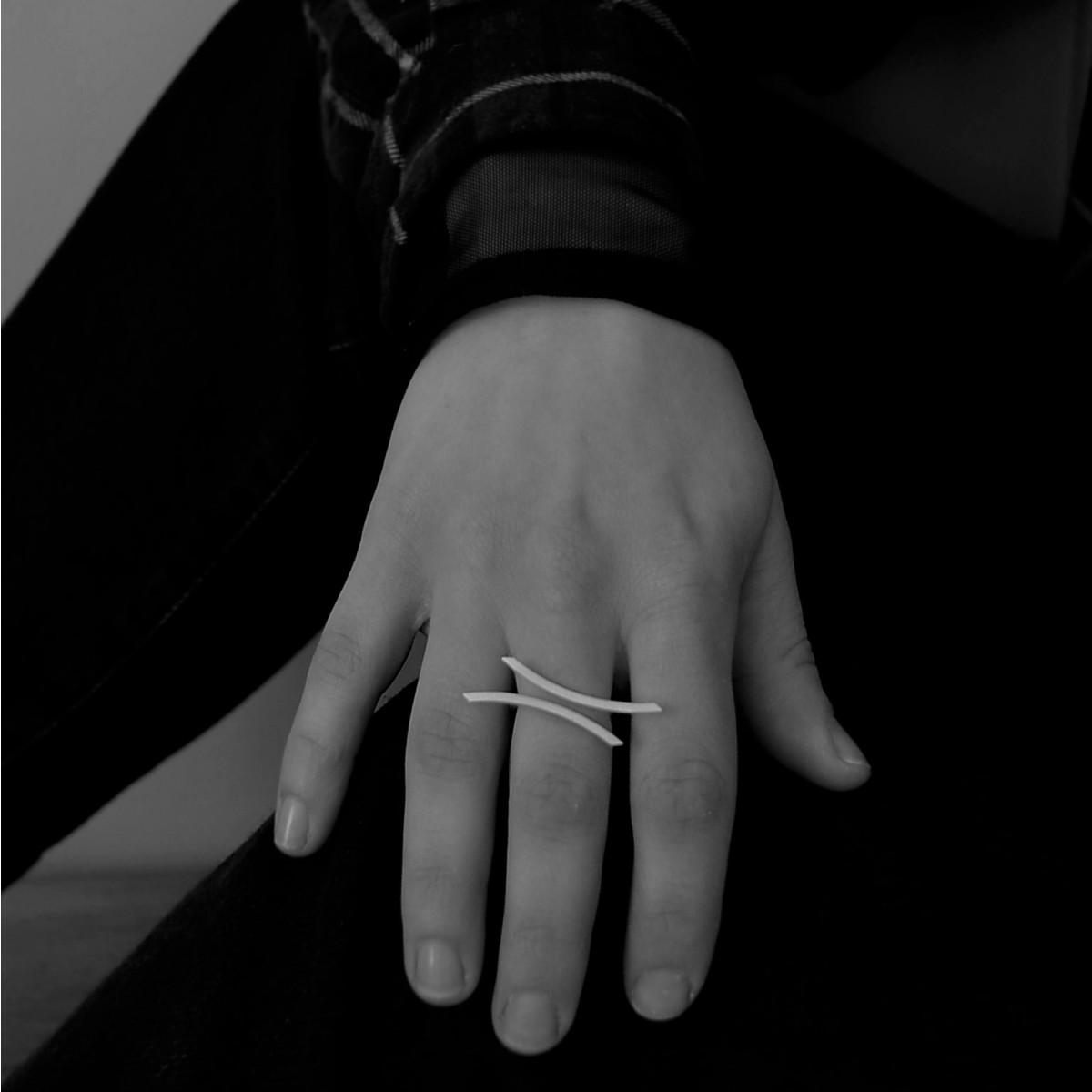 """DOPPELLUDWIG – Ring """"Ausgewogen"""" aus 925/- Silber"""