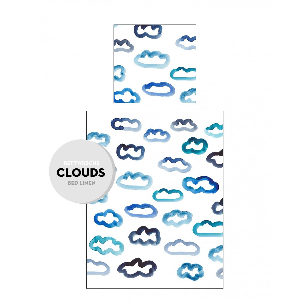 """PETERSEN Kissen Bezug """"Seaside Clouds"""", 40 x 40 cm"""