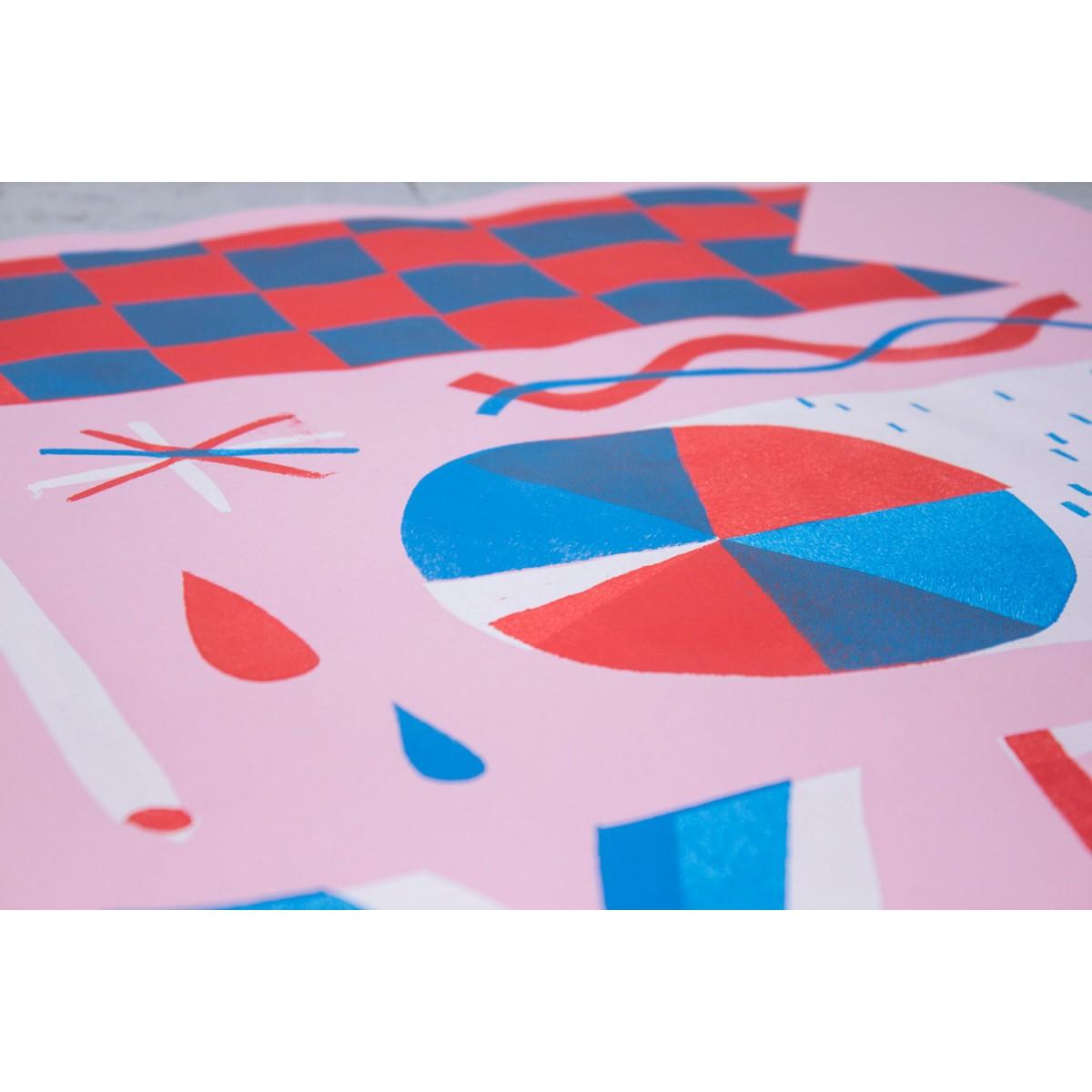 Stencil Artprint »YES«, 50x70cm