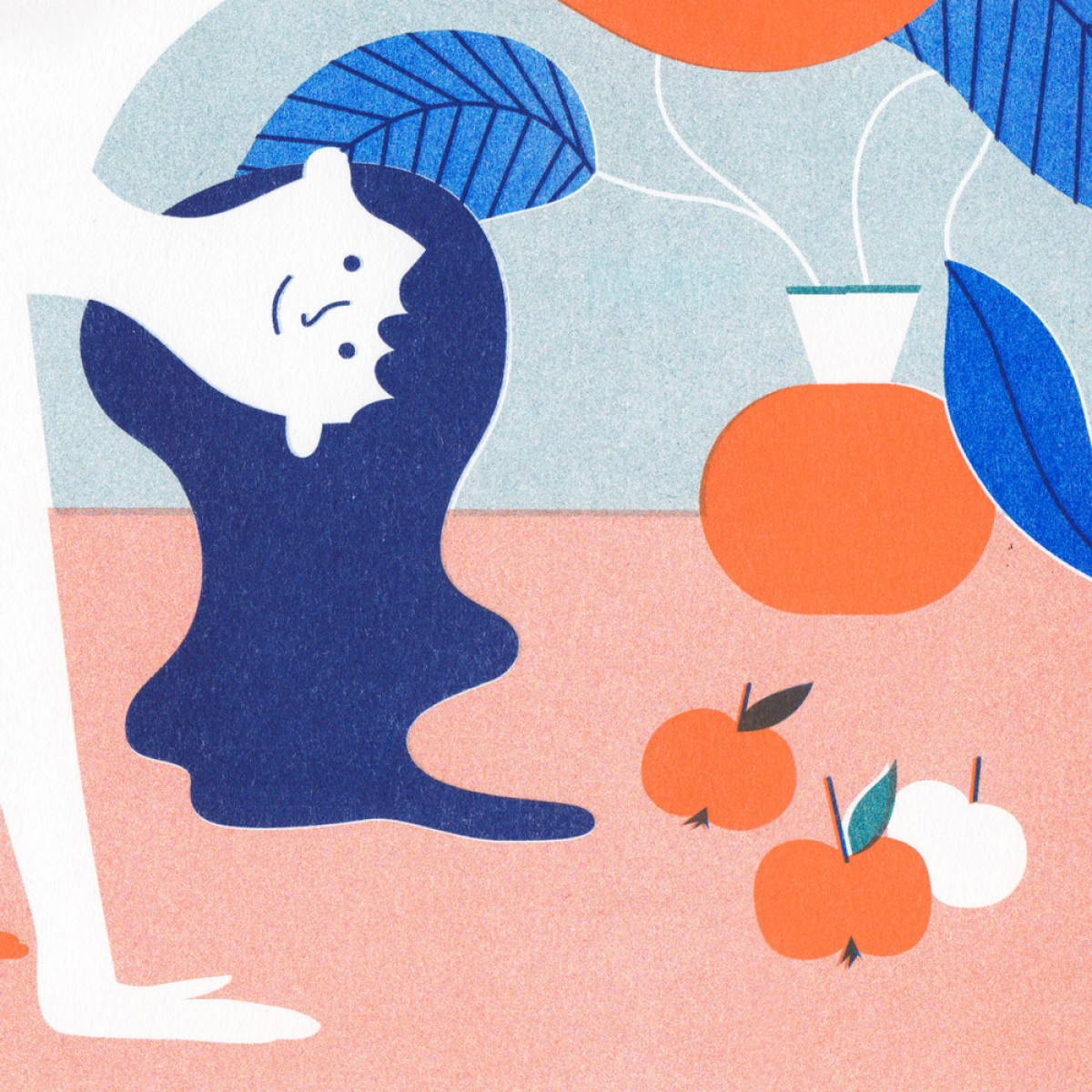 'Namaste' Riso Print