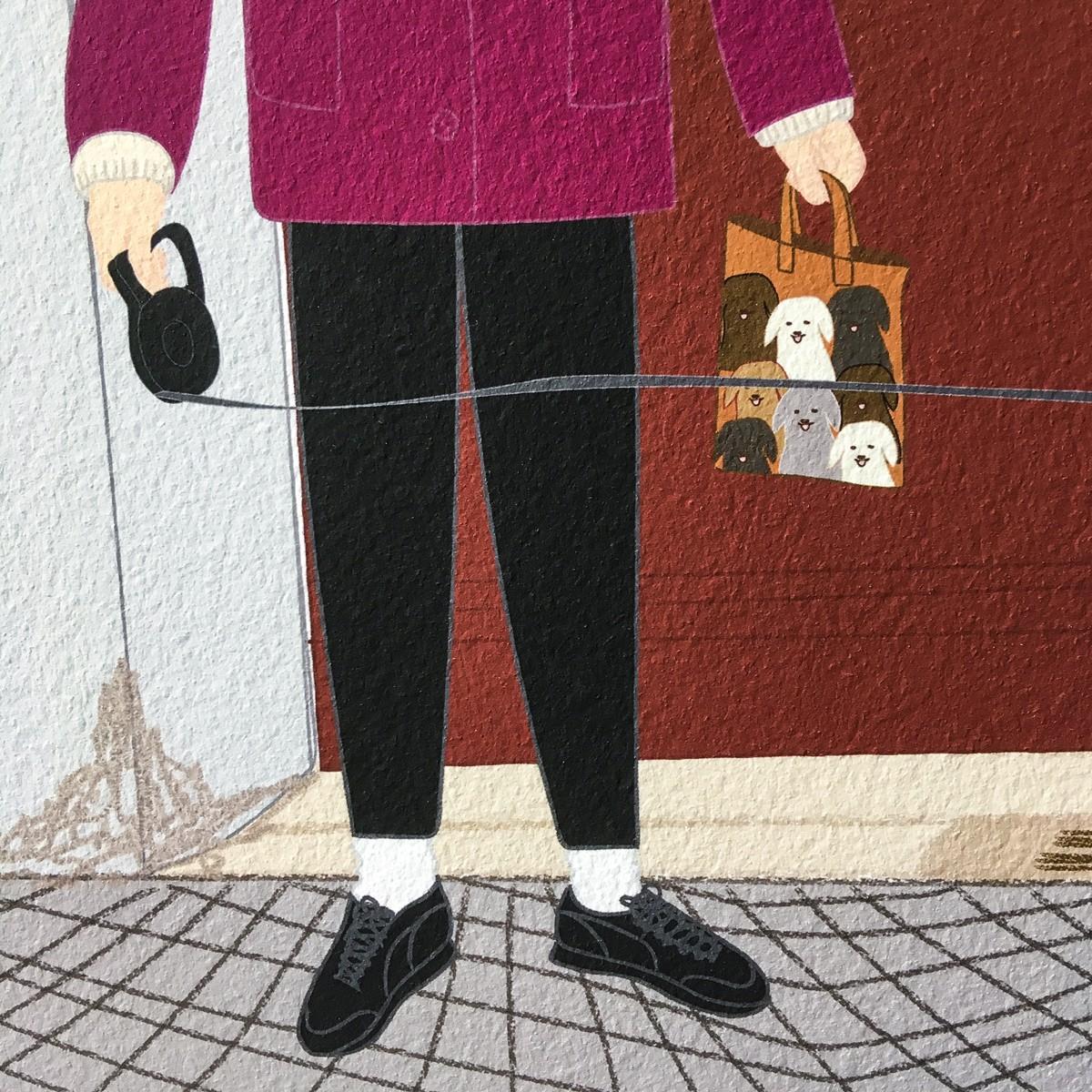 "Neighbour Series ""Neighbour No. 14"" – YUKY RYANG, Giclée-Druck, Format 28 x 28 cm"