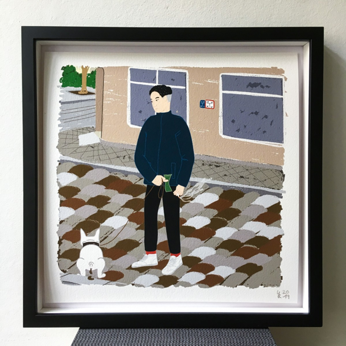 "Neighbour Series ""Neighbour No. 32"" – YUKY RYANG, Giclée-Druck, Format 28 x 28 cm"