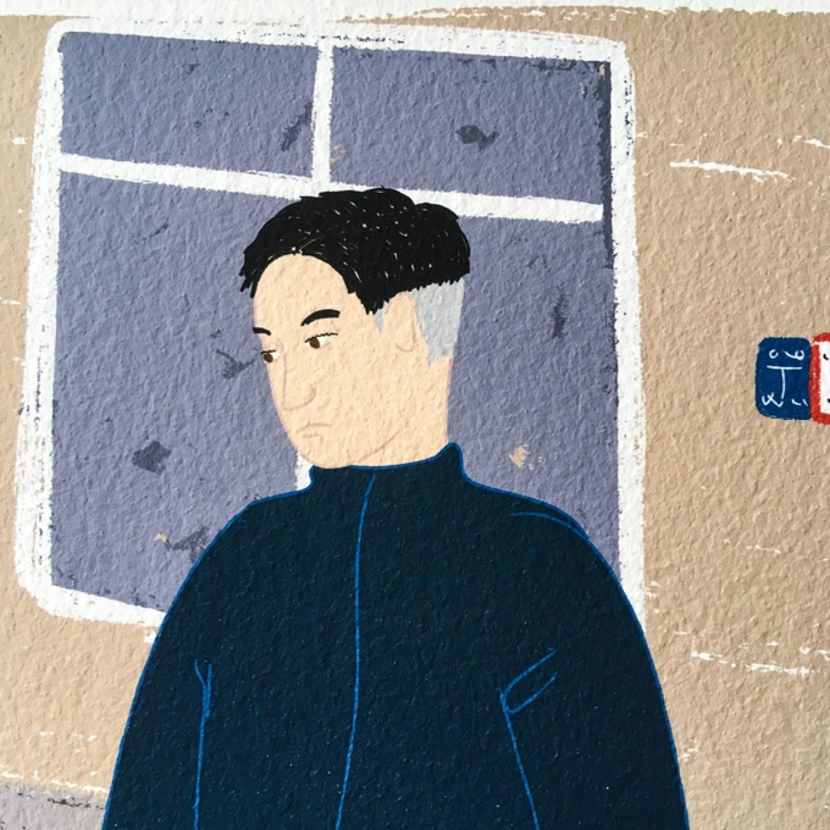 "Neighbour Series ""Neighbour No. 32"" – YUKY RYANG, Giclée-Druck, Format 28 x 28 cm"