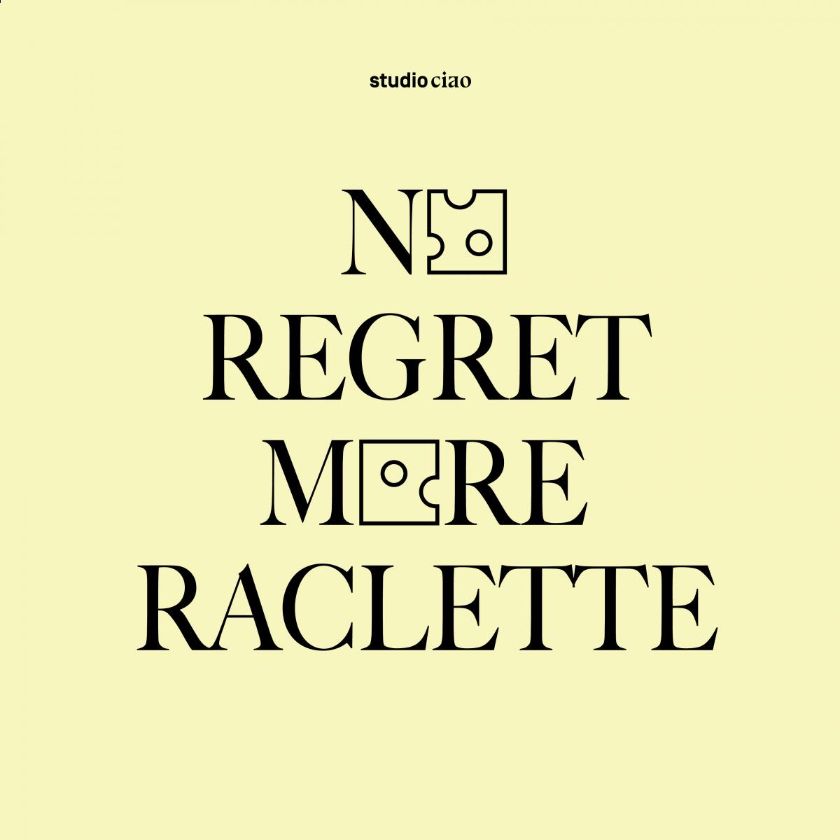 No Regret More Raclette Baumwolltasche – studio ciao