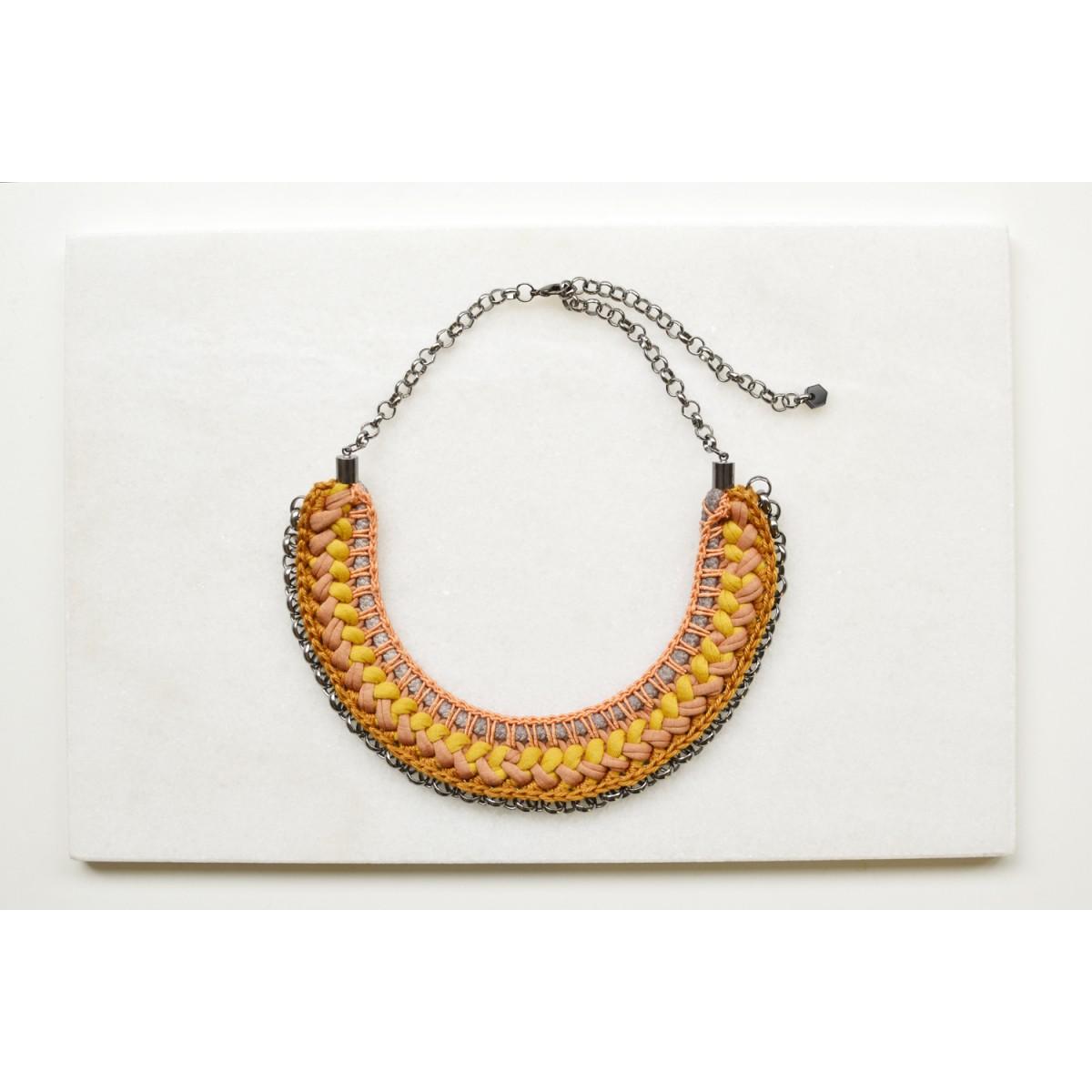 Gudbling // Kurze Boho Halskette Terrakotta