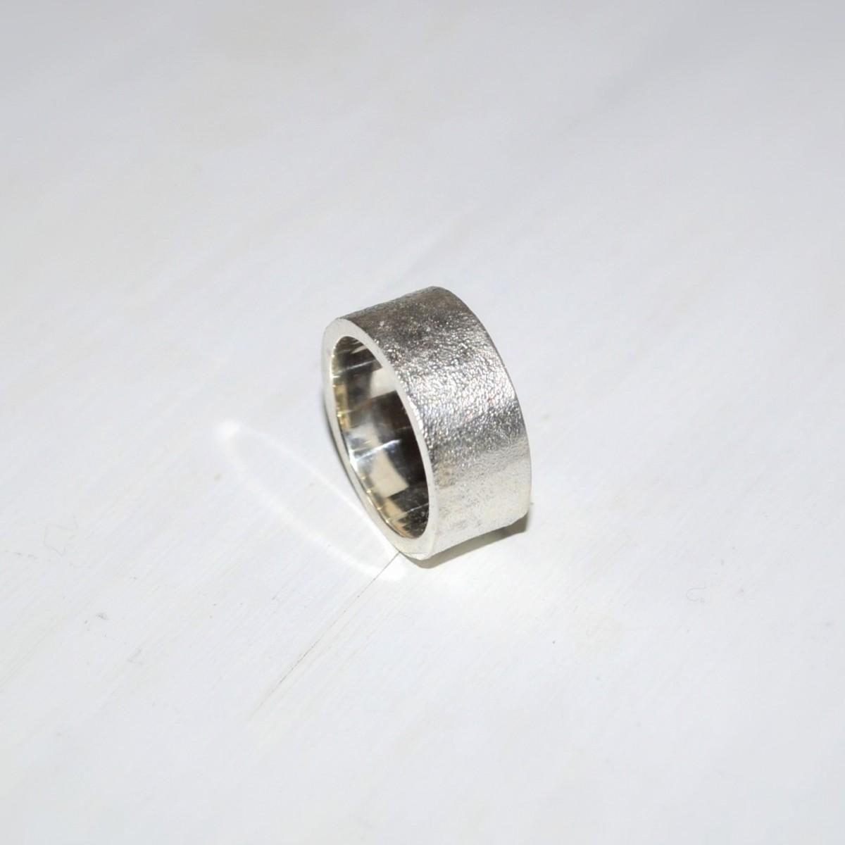 "DOPPELLUDWIG – Ring ""Geschmort breit"" aus 925/- Silber"
