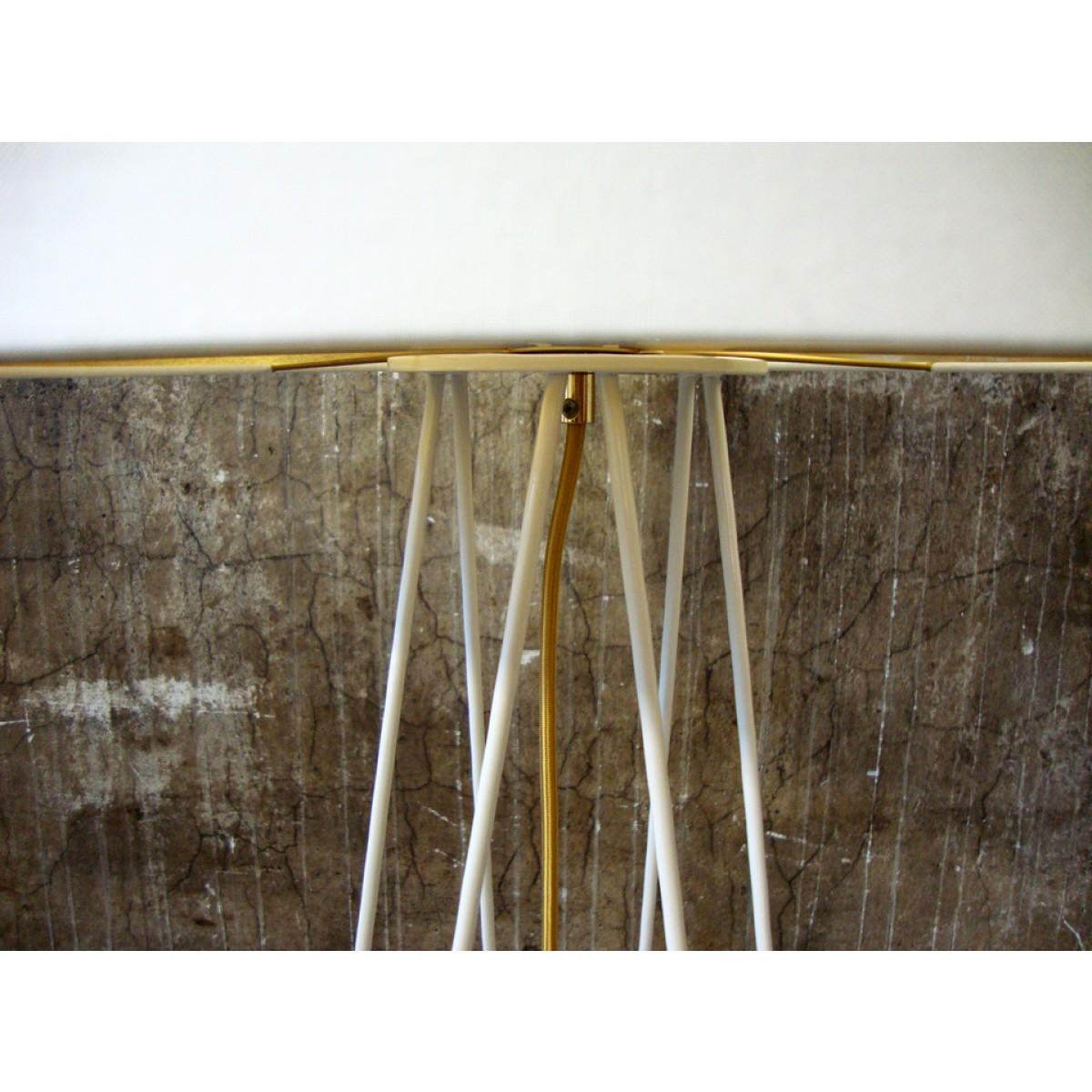 lukkizzi Tischleuchte HAIRPIN TL35 cremeweiß/gold