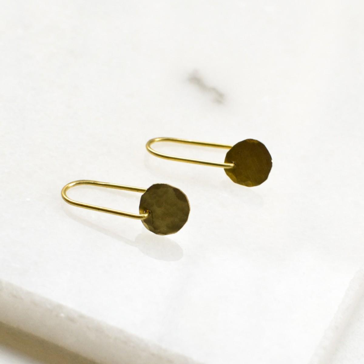 Gudbling // Minimalistische Kreis Ohrringe
