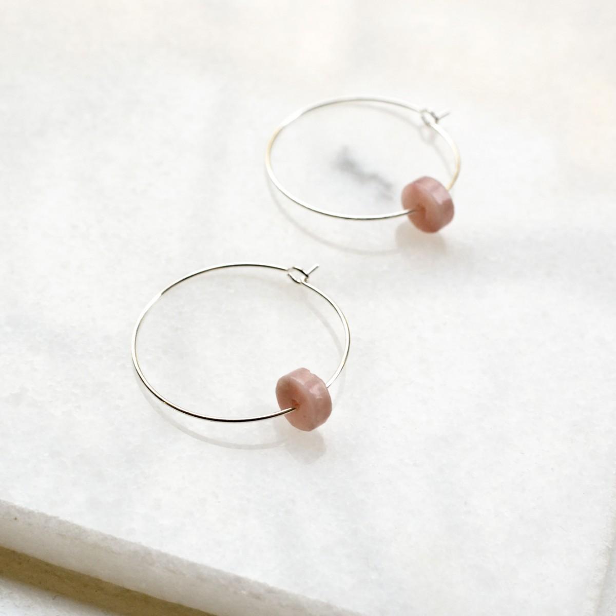 Gudbling // Pink Opal Ohrreifen