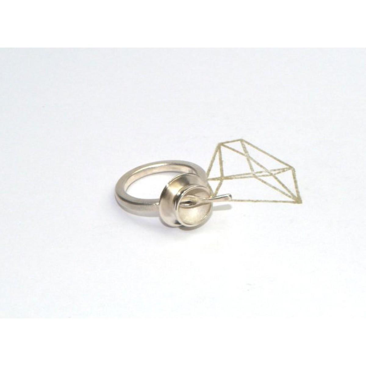 "DOPPELLUDWIG – TAFELSILBER  Ring ""Schüssel"" aus Silber"