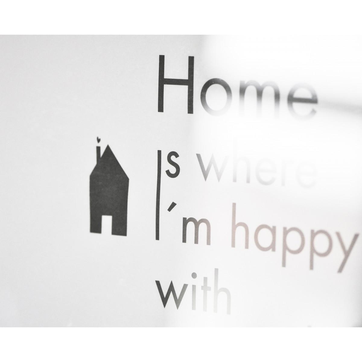 na.hili PRINT A3 Home is where I´m happy....