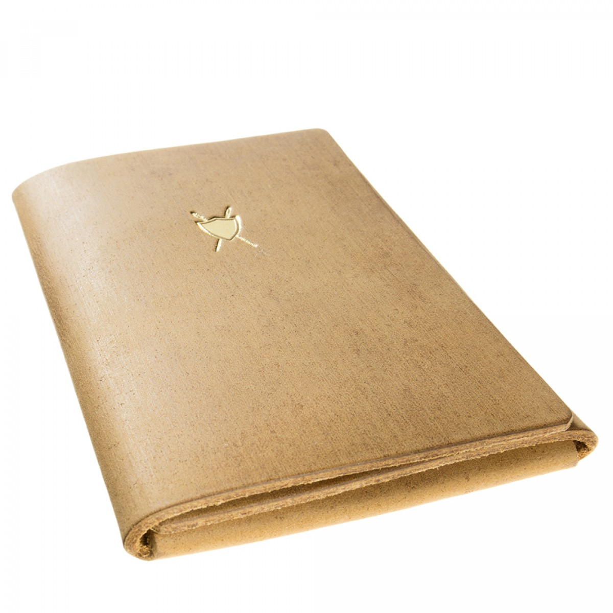 LIEBHARDT - Portemonnaie / Kreditkartenetui, Geldbörse aus pflanzlich gegerbtem Leder mit Kartenfach (braun)