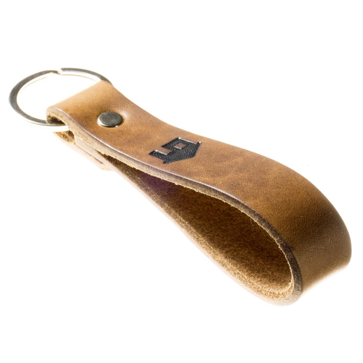 Schlüsselanhänger Haustürschlüssel pflanzlich gegerbtes Leder Handmade in Germany mit Gravur/Prägung (Haus - Symbol)