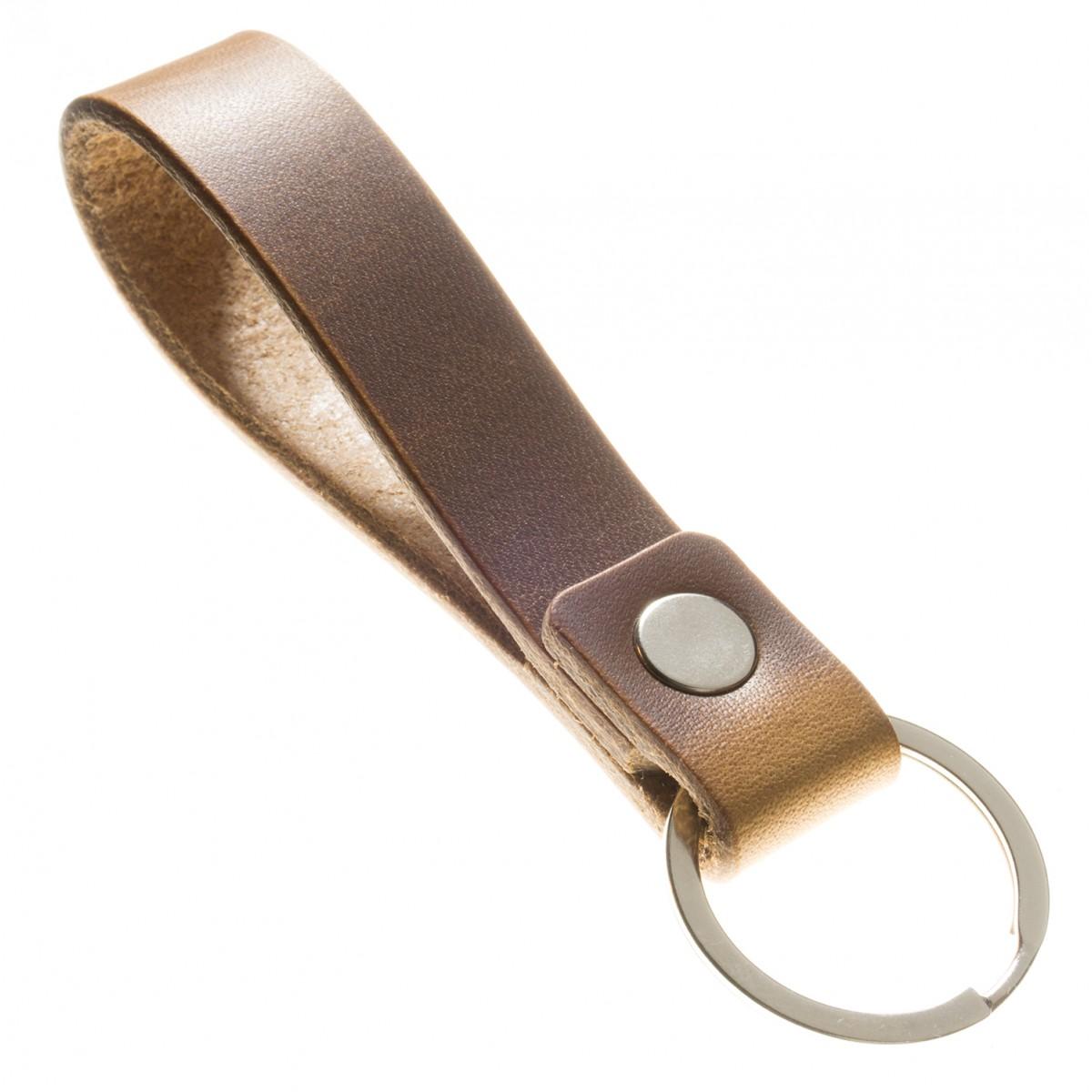 Schlüsselanhänger mit Botschaft aus pflanzlich gegerbtem