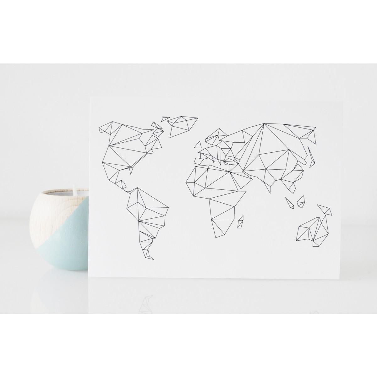 na.hili Postkarten Geometrical World (10er-Set)
