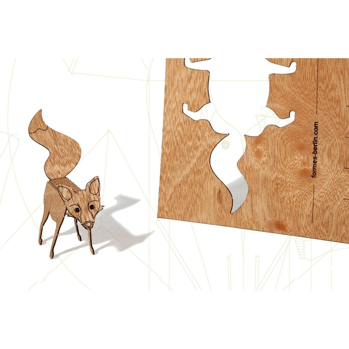 formes Berlin Fuchskarten - 6 Postkarten aus Holz
